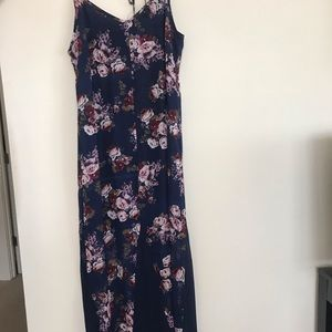 floral/navy maxi dress.
